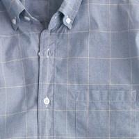 Secret Wash shirt in caravan blue windowpane