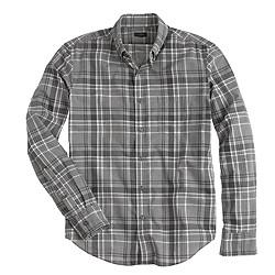 Slim Secret Wash shirt in heather grey plaid