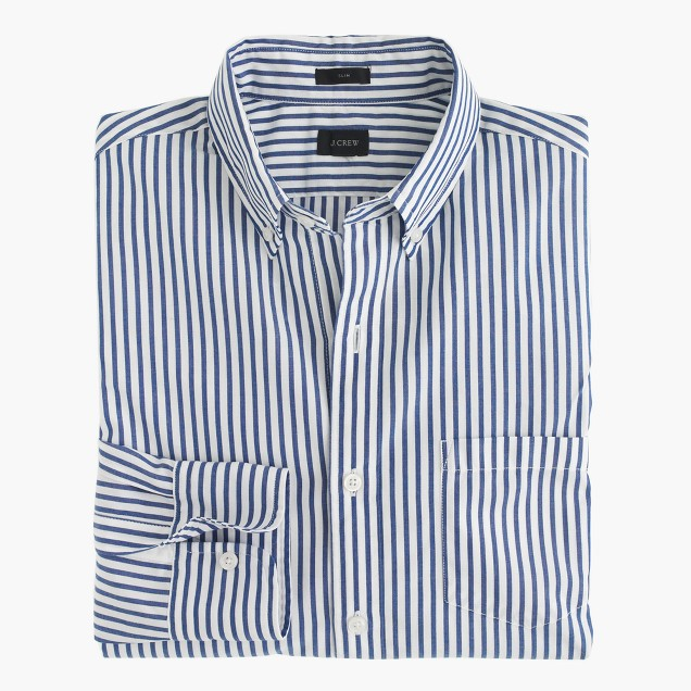 Slim Secret Wash shirt in oxbow blue stripe