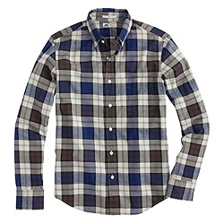 Slim Thomas Mason® for J.Crew flannel shirt in stone