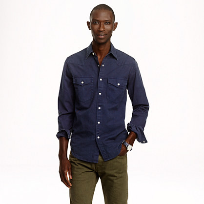 Wallace & Barnes garment-dyed western shirt
