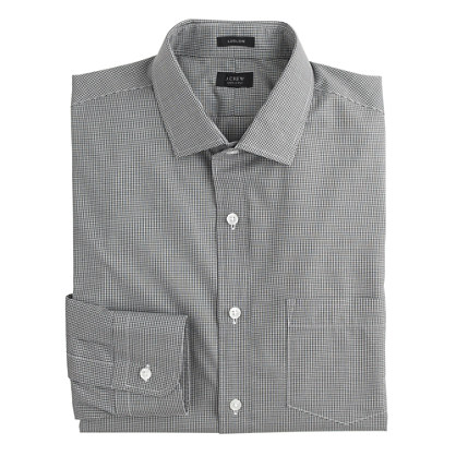 Ludlow shirt in microgingham