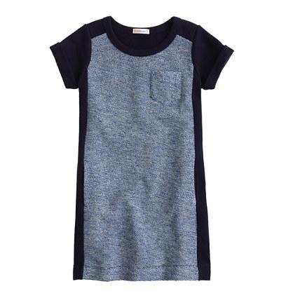 Girls' tweed sweatshirt dress