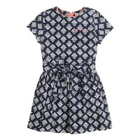 Girls' needle cord dress in thistle print