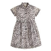 Girls' shirtdress in leopard
