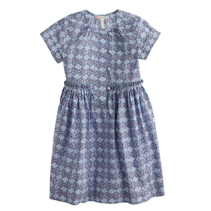 Girls' pleated floral medallion dress