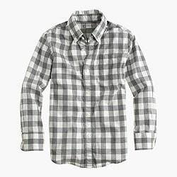 Kids' Secret Wash shirt in heather check