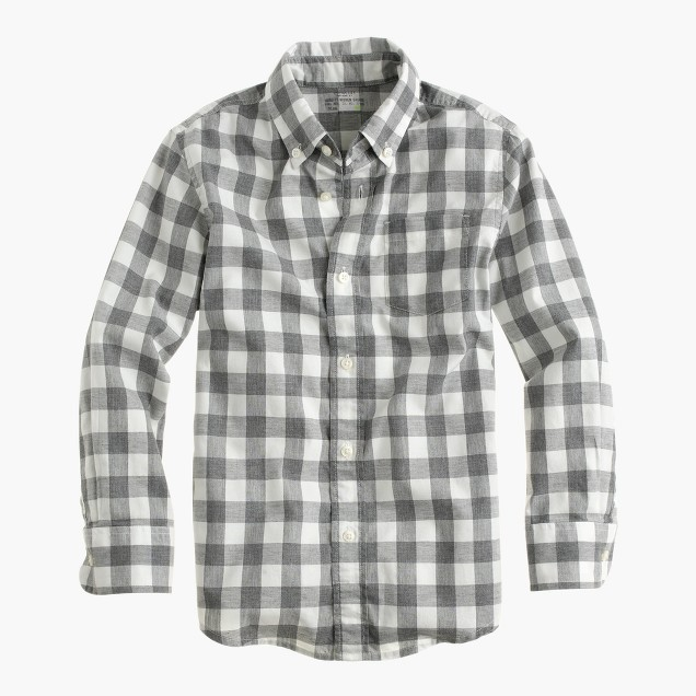 Kids'  shirt in heather check