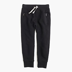 Boys' slim jogger with zip pockets