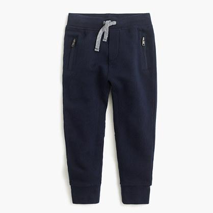 Boys' slim slouchy sweatpant with zip pockets