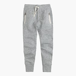 Boys' slim slouchy sweatpant with zip pockets