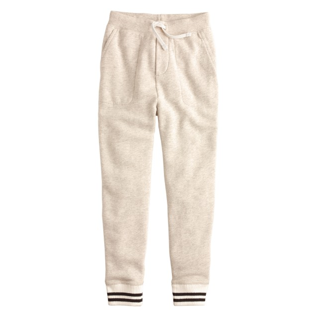 Boys' slim slouchy sweatpant with stripe cuff