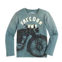 Boys' glow-in-the-dark motorcycle T-shirt