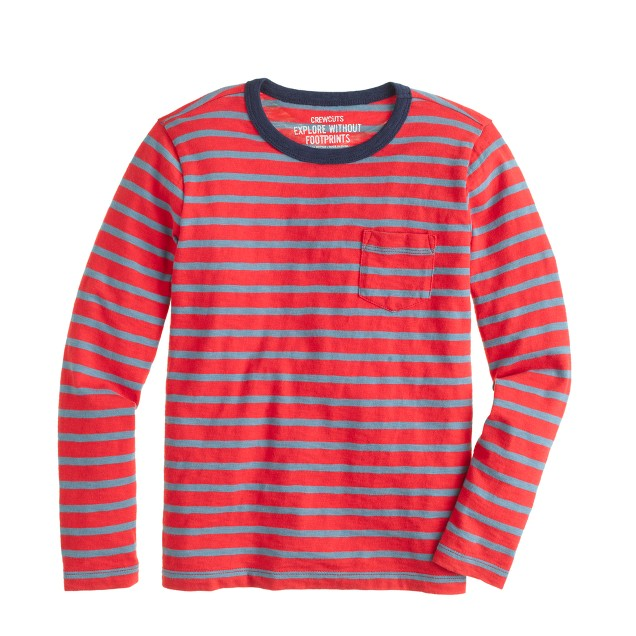 Boys' T-shirt in red stripe