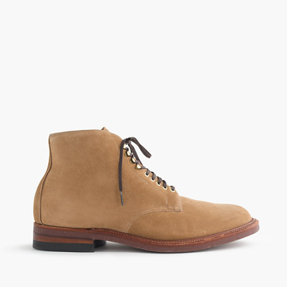 Alden® for J.Crew boots in camel suede