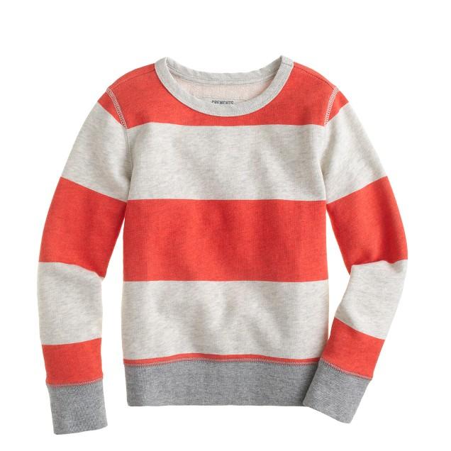 Boys' classic sweatshirt in stripe
