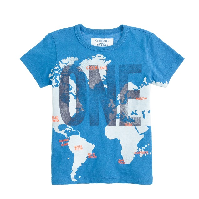 Boys' glow-in-the-dark one world T-shirt