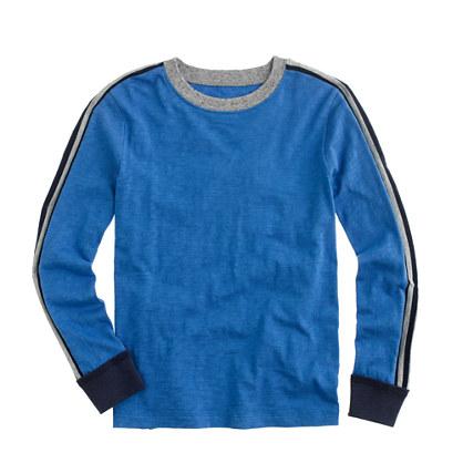 Boys' T-shirt in racing stripe