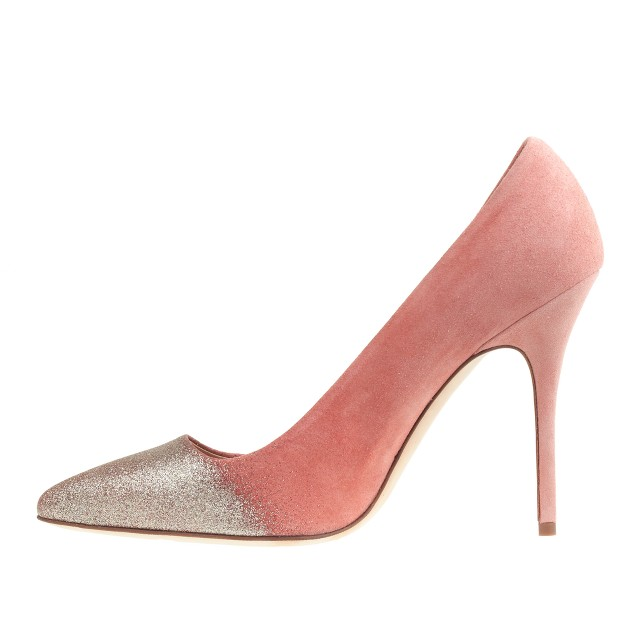 Collection Roxie glitter suede pumps