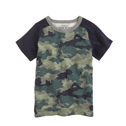 Boys' baseball camo T-shirt