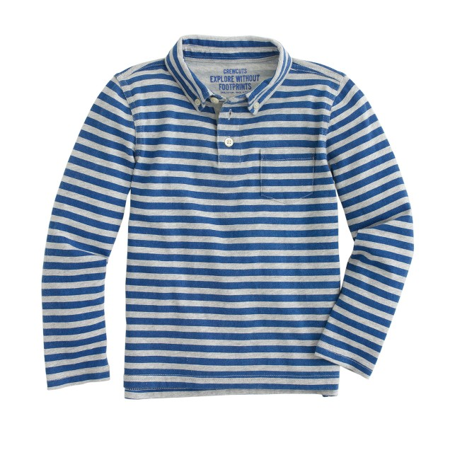 Boys' polo shirt in stripe