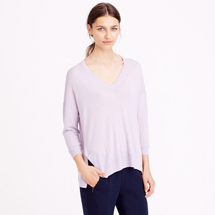 Featherweight merino wool V-neck sweater