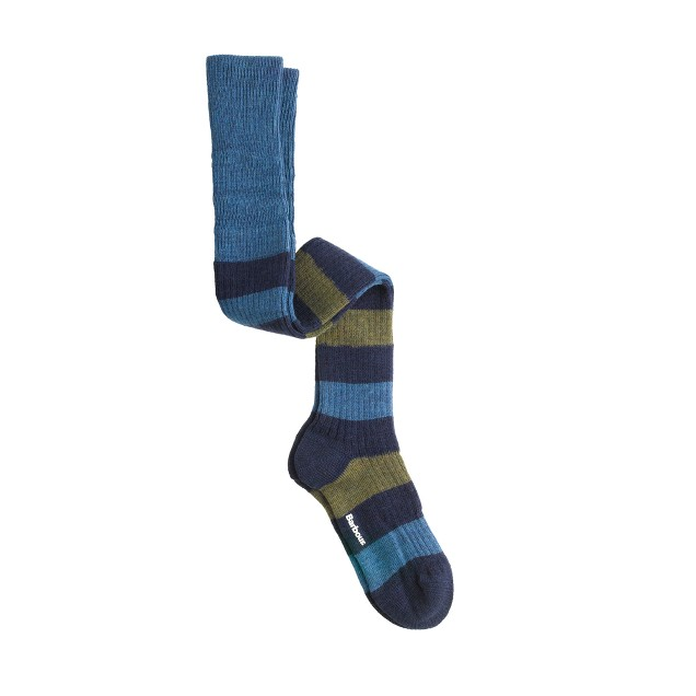 Barbour® stripe boot socks