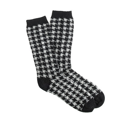 Barbour® houndstooth boot socks