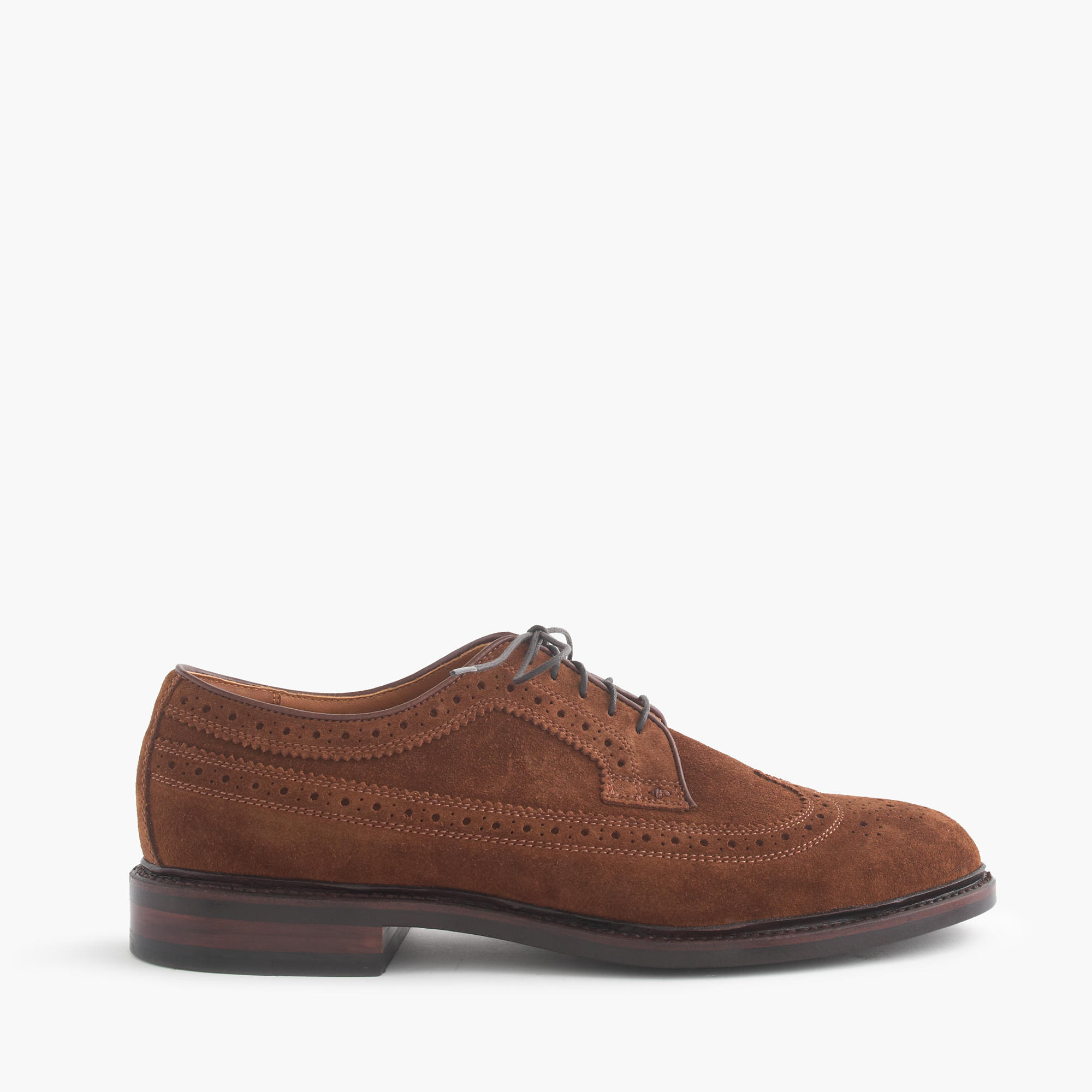 ludlow suede wing tips dress shoes j crew