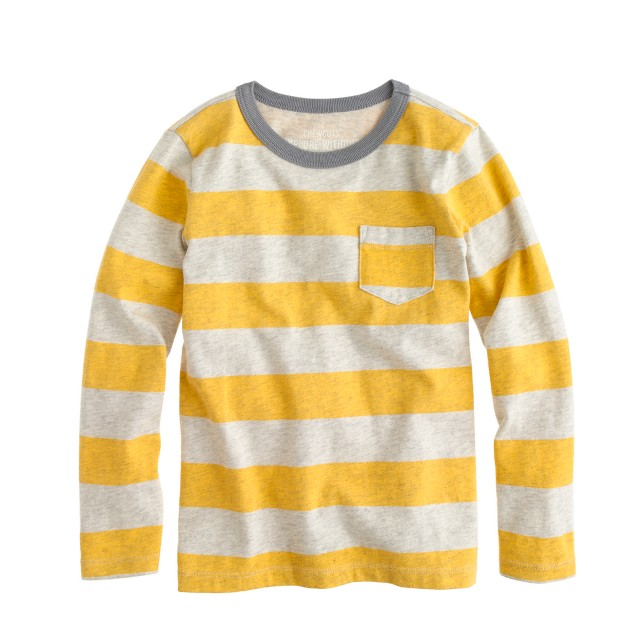 Boys' ringer pocket T-shirt in wide stripe