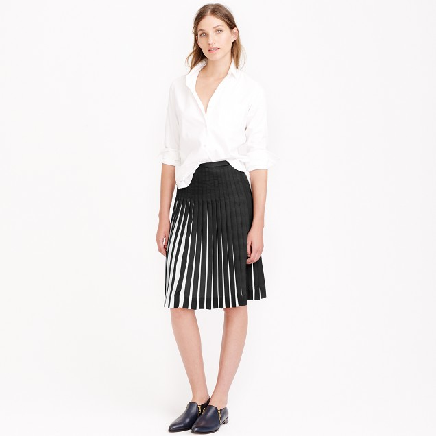 Stitched sunburst skirt in stripe