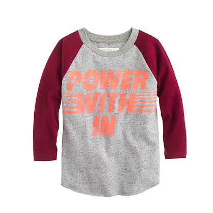 Boys' power within baseball T-shirt
