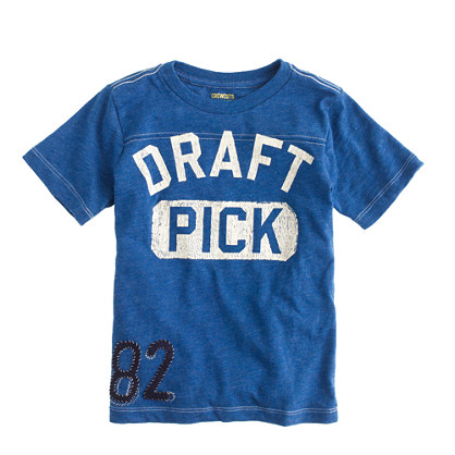 Boys' draft pick T-shirt