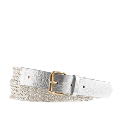 Metallic braided belt