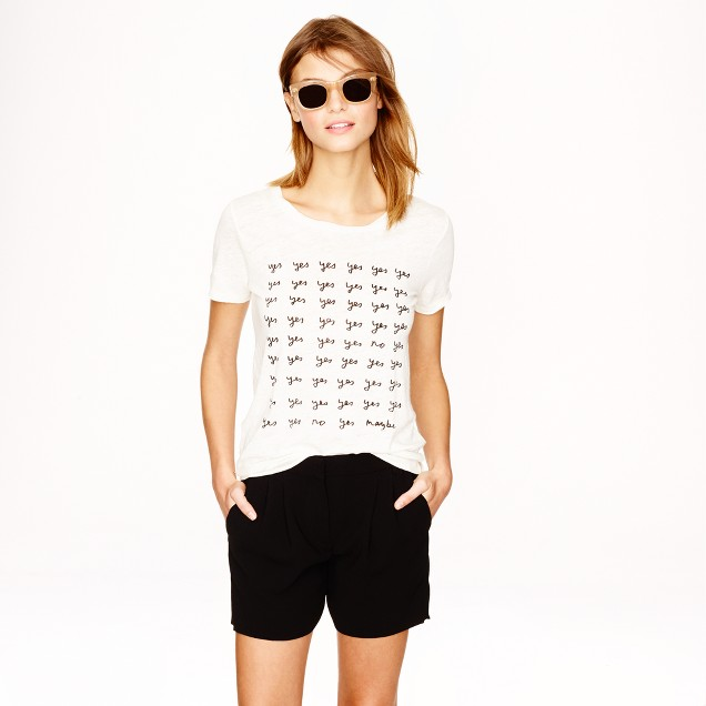 "Hugo Guinness for J.Crew ""yes"" linen T-shirt"