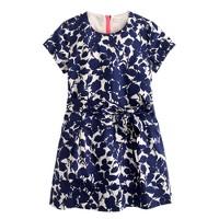Girls' evening primrose sateen dress