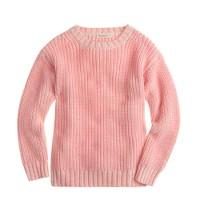 Girls' chunky neon sweater