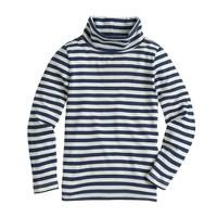 Girls' turtleneck in stripe