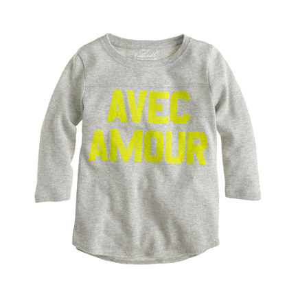 Girls' avec amour T-shirt