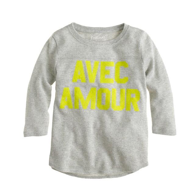Girls' avec amour T-shirt