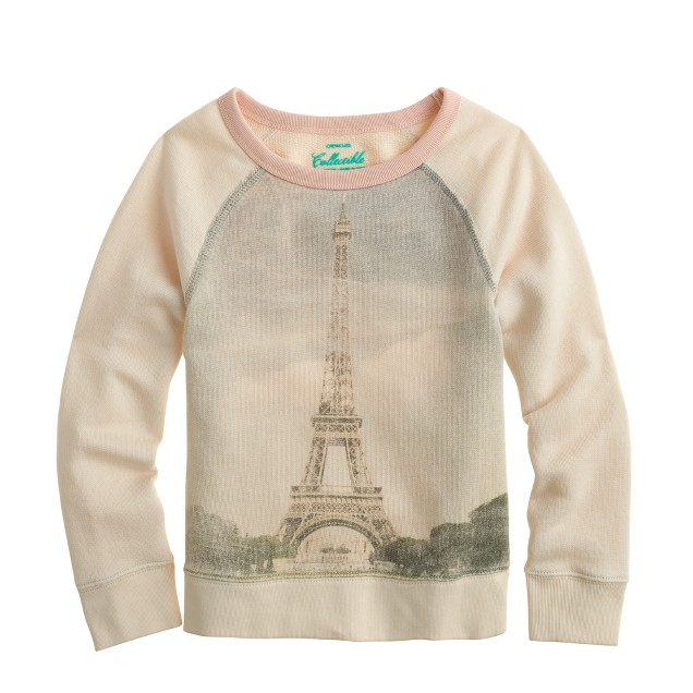Girls' Eiffel Tower sweatshirt