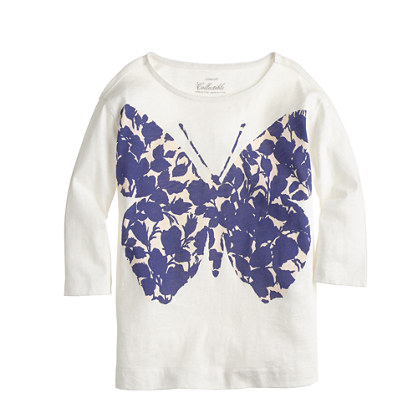 Girls' butterfly T-shirt