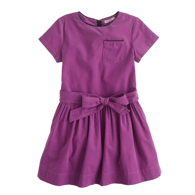 Girls' needle cord dress