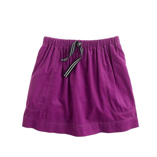 Girls' needle cord skirt