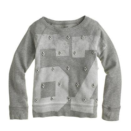 Girls' #67 jeweled sweatshirt