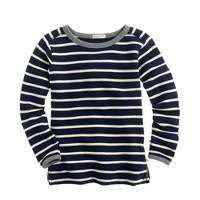 Girls' zip sweatshirt in stripe