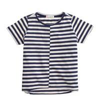 Girls' swing T-shirt in stripe