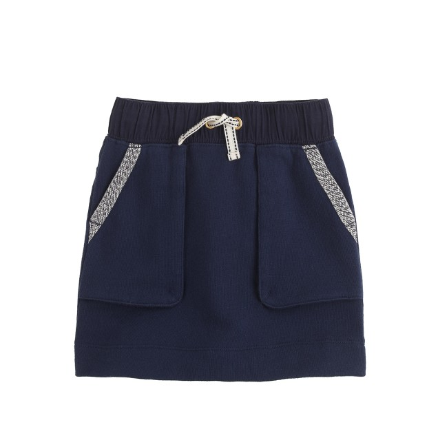 Girls' patch-pocket sweatshirt skirt