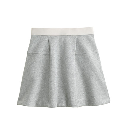Girls' fluted skirt in sparkle