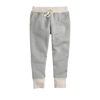 Girls' skinny sparkle sweatpant